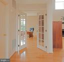 Office french doors - 5312 MAPLE VALLEY CT, CENTREVILLE