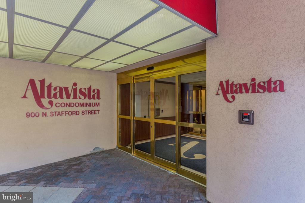 Lobby Entrance features a  secure building 24/7 - 900 N STAFFORD ST N #1608, ARLINGTON