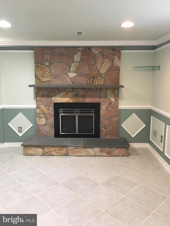 Fireplace in basement - 6425 GREENLEAF ST, SPRINGFIELD