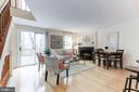Living/Dining combo with wood floors - 11921 REDTREE WAY, RESTON