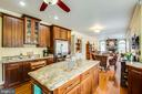 Kitchen with center island - 8202 WATERFORD DR, SPOTSYLVANIA