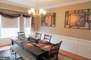 Formal dining room - 10212 NAPOLEON ST, FREDERICKSBURG