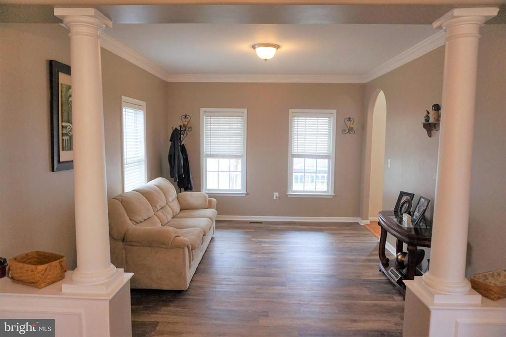 View of formal living room from formal dining room - 10212 NAPOLEON ST, FREDERICKSBURG