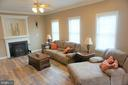 Family room with cozy fireplace - 10212 NAPOLEON ST, FREDERICKSBURG