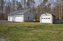 separate 1 car detached garage/shed - 8202 WATERFORD DR, SPOTSYLVANIA
