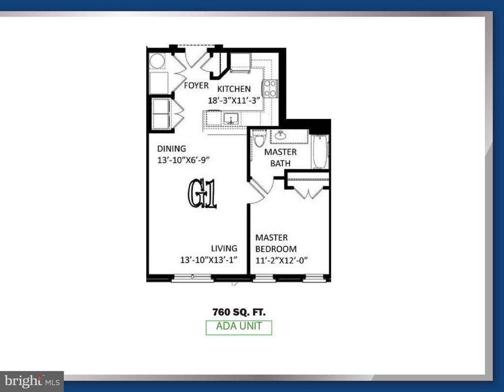 ADA Unit Floorplan - 6104 FAIRVIEW FARM DR #401, ALEXANDRIA