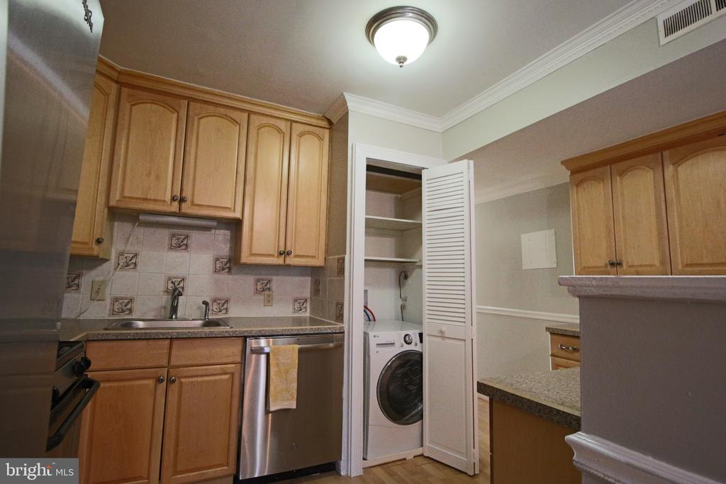 New combo W/D in-unit, and still room for Pantry. - 5091 7TH RD S #102, ARLINGTON