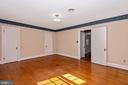 Master bedroom with two closets. - 202 ROCKWELL TER, FREDERICK