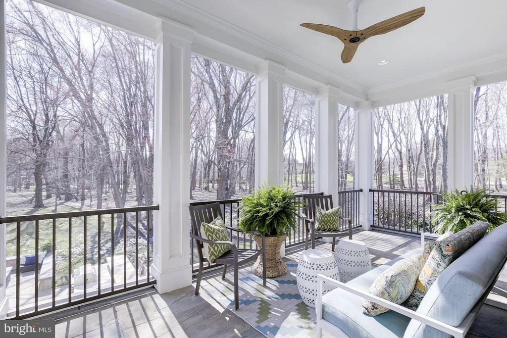 Screened-In Porch - 9720 ARNON CHAPEL RD, GREAT FALLS