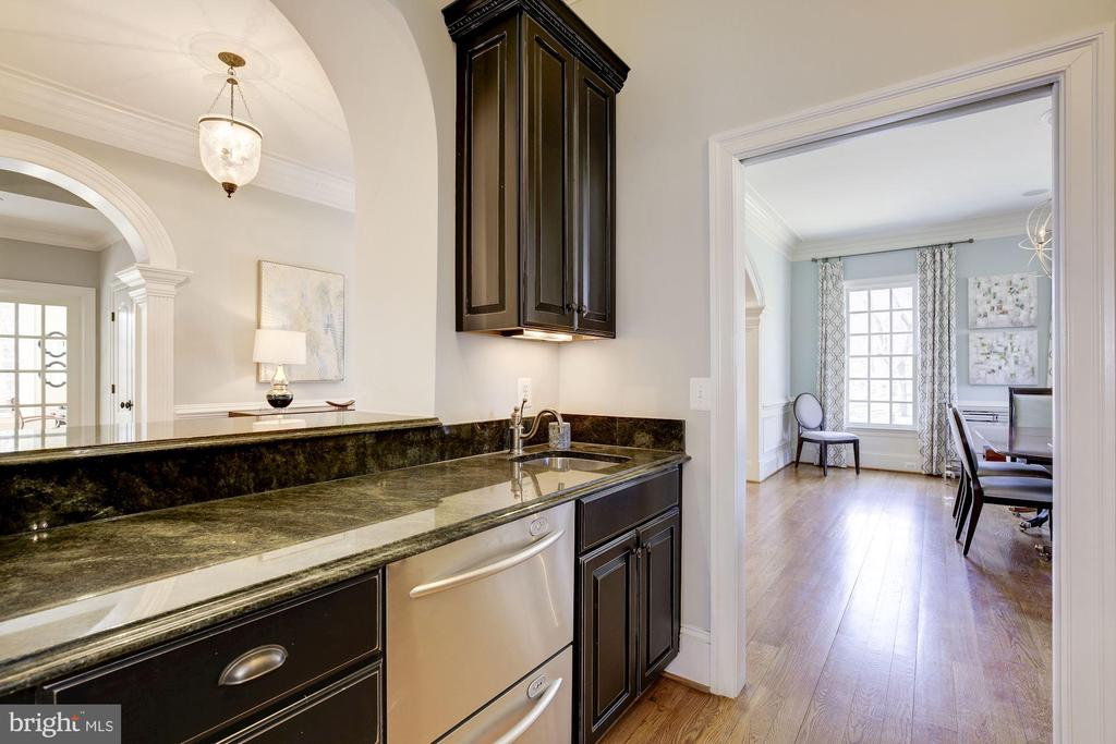 Wet Bar between Kitchen & Dining Room - 9720 ARNON CHAPEL RD, GREAT FALLS
