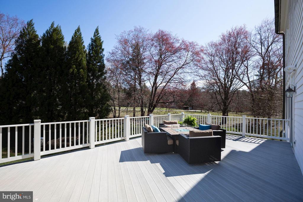 Deck off Kitchen & Family Room - 9720 ARNON CHAPEL RD, GREAT FALLS