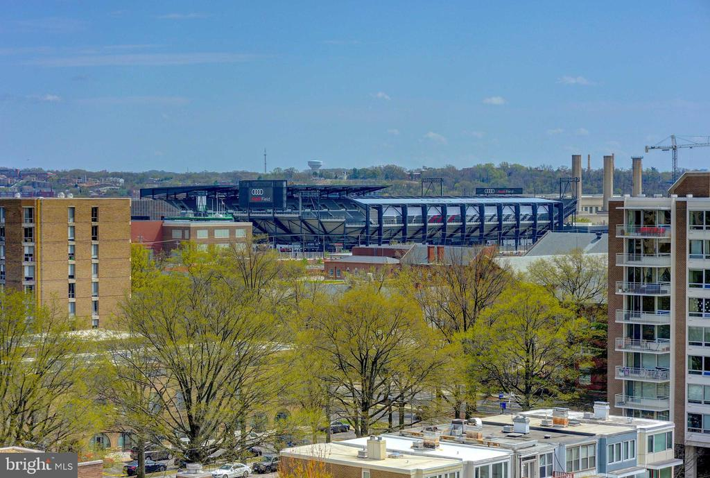 View of the stadium from the roof deck - 520 N ST SW #S621, WASHINGTON