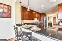 Breakfast bar sits up to four! - 11990 MARKET ST #413, RESTON