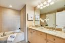 Dual vanity features granite and oversized tub - 11990 MARKET ST #413, RESTON