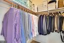 Walk-in closet - 11990 MARKET ST #413, RESTON