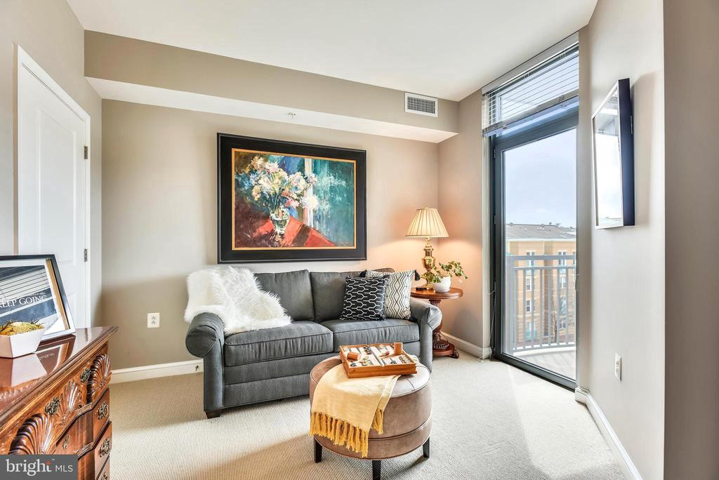 Bedroom 2 features walk-in and leads to balcony - 11990 MARKET ST #413, RESTON