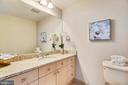Full bath with granite, ceramic & enclosed shower - 11990 MARKET ST #413, RESTON