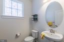 1st floor half bath - 17040 TAKEAWAY LN, DUMFRIES