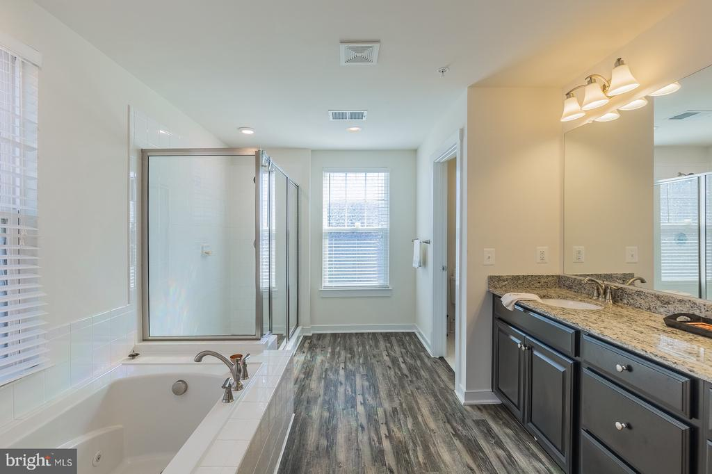 Master bath with large soaking tub - 17040 TAKEAWAY LN, DUMFRIES