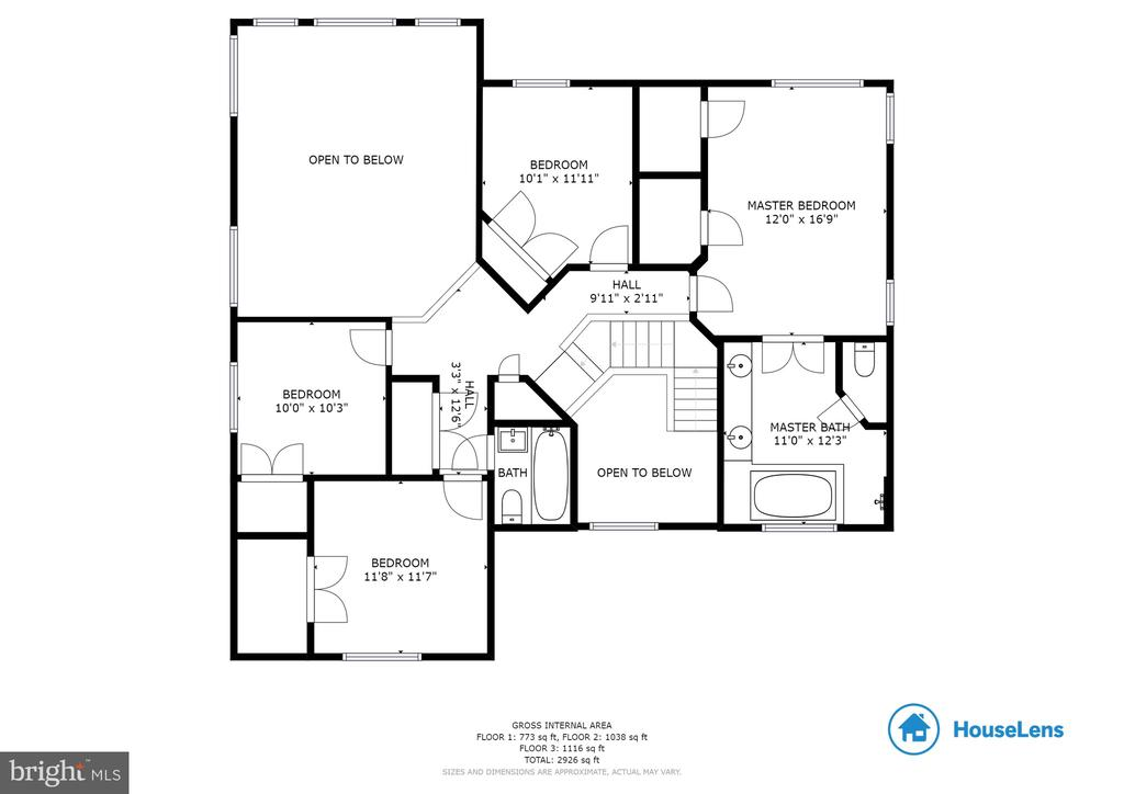 Upper Level Floor Plan - 1248 BARKSDALE DR NE, LEESBURG