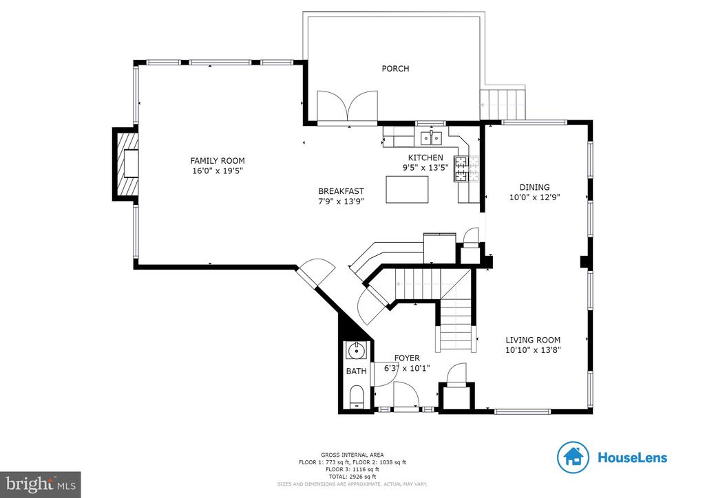Main Level Floor Plan - 1248 BARKSDALE DR NE, LEESBURG