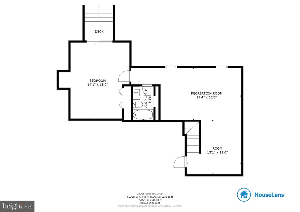 Lower Level Floor Plan - 1248 BARKSDALE DR NE, LEESBURG