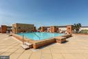 Large Rooftop Pool with Views and Seating. - 616 E ST NW #656, WASHINGTON