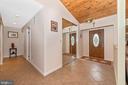 Main entry foyer area with porcelain tile. - 13712 PRYOR RD, THURMONT
