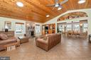 Living room with porcelain tile & vaulted  ceiling - 13712 PRYOR RD, THURMONT