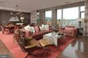 Panoramic windows overlook the pool and the river - 601 N FAIRFAX ST #316, ALEXANDRIA
