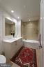 The guest bath is luxurious and has good light - 601 N FAIRFAX ST #316, ALEXANDRIA