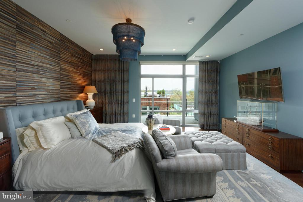 A generous master bedroom  has two walk-in closets - 601 N FAIRFAX ST #316, ALEXANDRIA