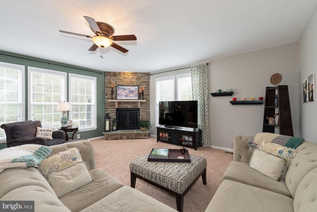 Huge FR w/ Stone Gas FP great for Family Gathering - 24436 PERMIAN CIR, ALDIE