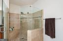 Frame-less Glass Shower with Dual Shower Heads - 24436 PERMIAN CIR, ALDIE