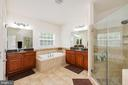 Luxury Mstr Bath w/ Dual Vanity and Framless Glass - 24436 PERMIAN CIR, ALDIE