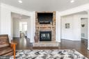 Fireplace - 15747 BASKERVILLE CT, LEESBURG