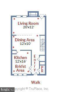 Main Level Floor Plan - 4507 4TH RD N, ARLINGTON