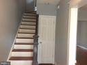 Refinished wood stairs to upstairs Bedrooms - 632 FRANKLIN ST NE, WASHINGTON