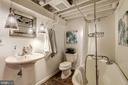 Full Bathroom #2 - Pendant Lighting, Exposed Beams - 517 N WEST ST, ALEXANDRIA