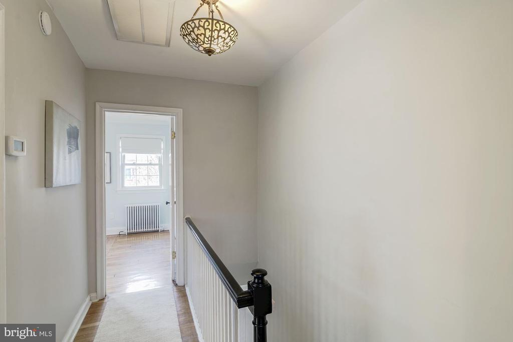 Upstairs Hallway - Hardwoods + a Neutral Runner! - 517 N WEST ST, ALEXANDRIA