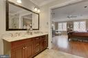 Beautiful Master bath - 8345 CATHEDRAL FOREST DR, FAIRFAX STATION