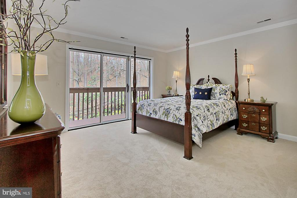 Bedroom 2 also has deck overlooking pool! - 8345 CATHEDRAL FOREST DR, FAIRFAX STATION