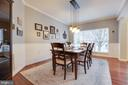 Dining Room with Custom Paint - 707 INVERMERE DR NE, LEESBURG