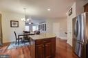 Kitchen Island/Breakfast Area - 707 INVERMERE DR NE, LEESBURG