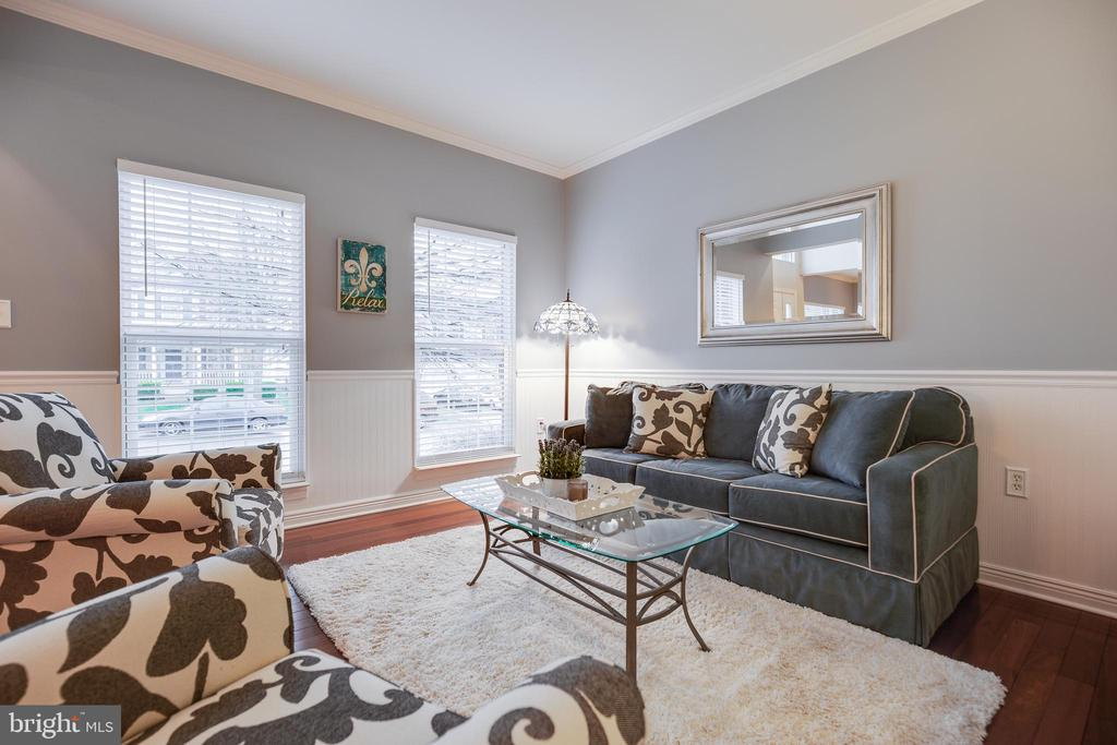 Light and Bright Living Room w/Custom Moldings - 707 INVERMERE DR NE, LEESBURG