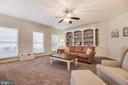 Expanded Family Room with Gas Fireplace/Built-Ins - 707 INVERMERE DR NE, LEESBURG