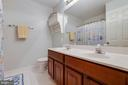 Upper Level Full Hall Bath with Dual Vanity - 707 INVERMERE DR NE, LEESBURG