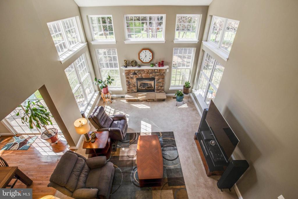 Family room from upper level overlook - 42771 CONQUEST CIR, BRAMBLETON