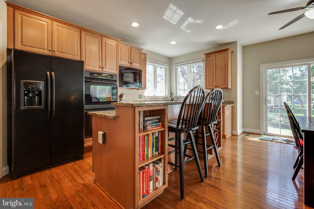 Wood floors throughout kitchen - 42771 CONQUEST CIR, BRAMBLETON