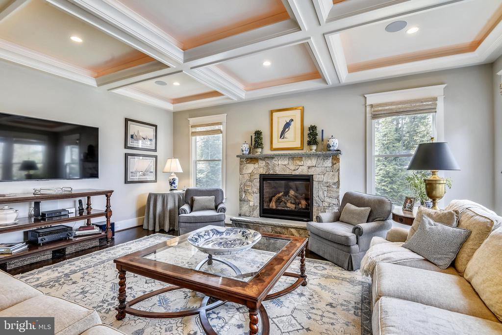 Inviting Family Room with gas fireplace - 301 NIBLICK DR SE, VIENNA